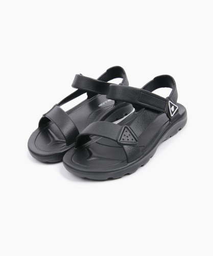 Ballop Trapper Touch-Fastened Sandals [Glossy Black]